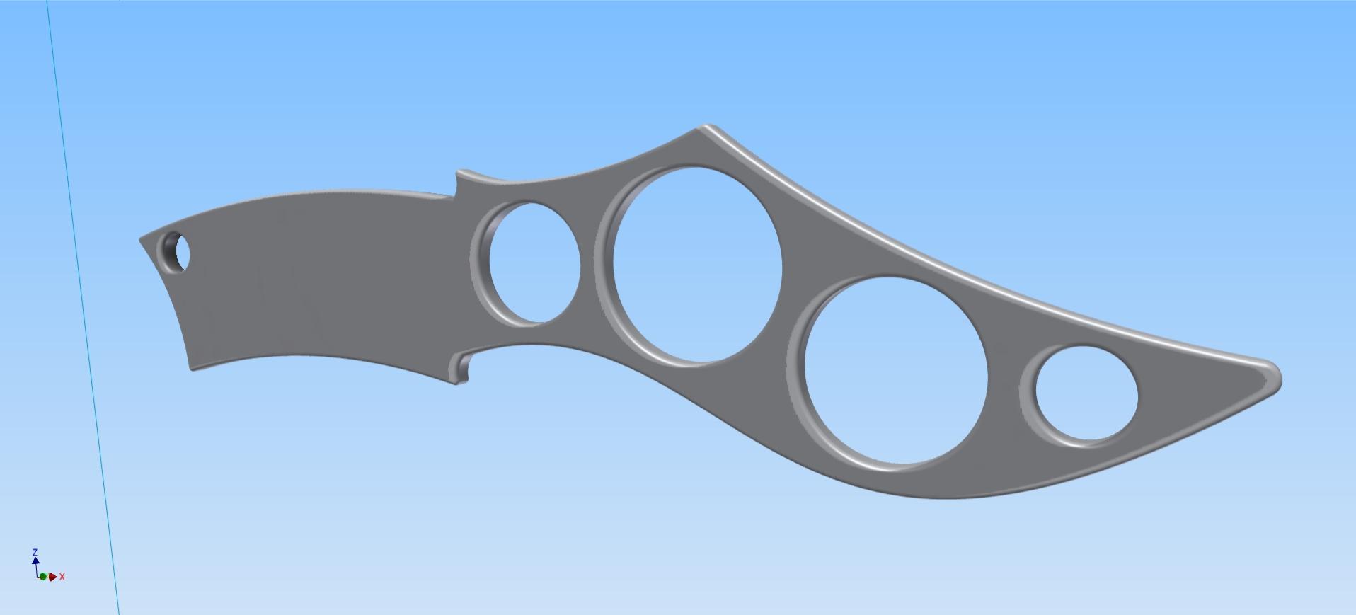 Aluminium knife