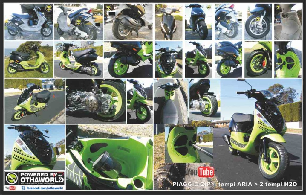 Piaggio Zip Sport air to liquid cooled