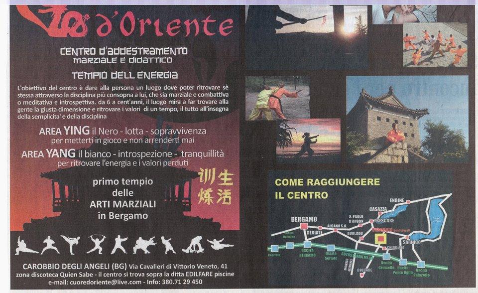 shaolin kung fu in bergamo • heart of the orient