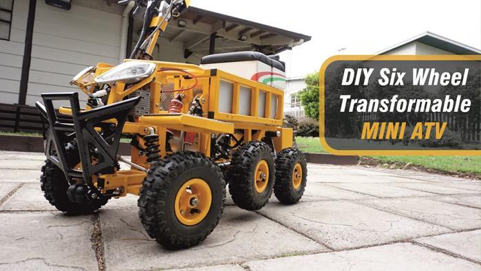 DIY Six Wheel MINI ATV
