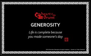 30 - GENEROSITY